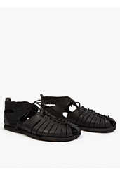 Officine Creative Black Leather Artisan' Sandals