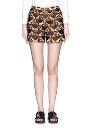 Chictopia Monkey Embroidery Knit Shorts Brown