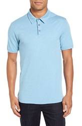 Velvet By Graham And Spencer Men's 'Randall' Slub Knit Polo French Blue