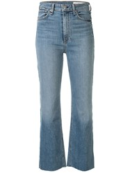 Rag And Bone Mid Rise Bootcut Jeans Blue