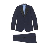 Gucci Heritage Wool Mohair Tuxedo Blue