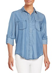 Saks Fifth Avenue Red Riley Chambray Shirt Classic Blue