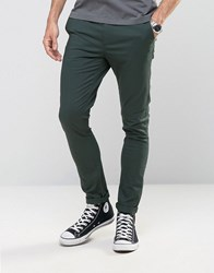 Asos Super Skinny Chinos In Deep Teal Dark Spruce Green