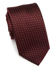 Saks Fifth Avenue Pin Dot Silk Tie Red