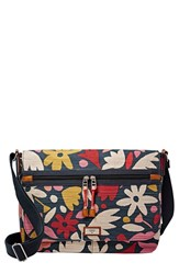 Fossil 'Blake' Flower Print Canvas Messenger Bag