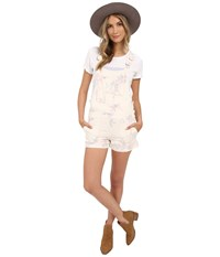 Obey Maven Short Overall Natural Multi Women's Jumpsuit And Rompers One Piece
