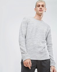Selected Homme High Neck Sweat Egret Grey