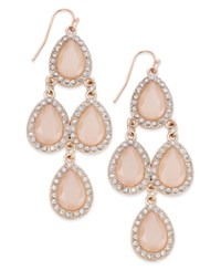 Inc International Concepts Gold Tone Jet Black Teardrop Chandelier Fish Hook Earrings Only At Macy's Pink