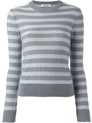 Valentino Striped Jumper Grey