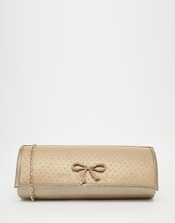 Lotus Clutch Bag With Bow Lightpewter