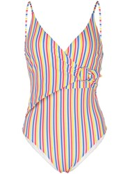 Onia Lila Striped Print Swimsuit 60