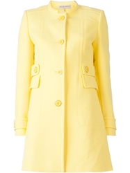 Emilio Pucci Single Breasted Coat Yellow And Orange