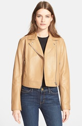 Alexander Wang Pebbled Leather Moto Jacket Khaki