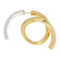 Acne Studios Gold And Silver Single Alana Earring
