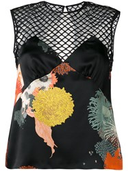 Dries Van Noten Cut Out Patterned Top Black