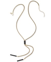 Thalia Sodi Gold Tone Glitter Lariat Necklace Only At Macy's Black