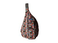 Kavu Rope Bag Geometry Backpack Bags Black