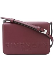 Givenchy Logo Embossed Crossbody Satchel Pink And Purple