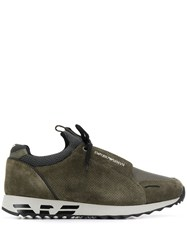 Emporio Armani Perforated Logo Sneakers Green