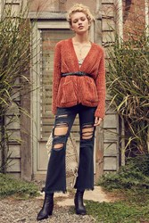 Bdg Kick Flare High Rise Cropped Jean A Button Fly Black