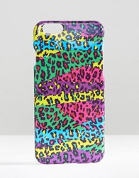 Asos Iphone 6 And 6S Leopard Print Case Multi