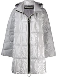 Ienki Ienki Hooded Padded Coat Silver
