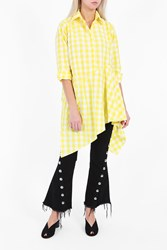 Marques Almeida Women S Gingham Shirt Dress Boutique1 Yellow