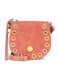 See By Chloe Small Kriss Hobo Suede Shoulder Bag Pink