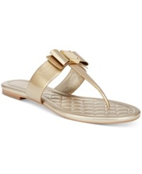 Cole Haan Tali Bow Thong Sandals Women's Shoes Gold