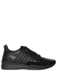 Dsquared 50Mm Leather Low Top Sneakers Black