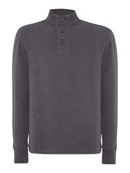 Army And Navy Wilfed Ribbed Jumper Charcoal Marl