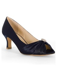 Chesca Satin D Fit Shoes With Diamante Detail Navy