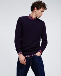 Aspesi Cashmere Sweater Bordeaux Blue