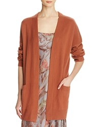 Vince Cashmere Open Front Cardigan Fig