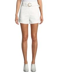 A.L.C. Clive Belted Shorts Eggshell