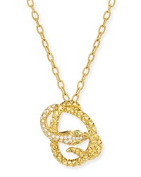 Albert Malky Coiled Diamond Snake Pendant Necklace In 18K Gold