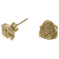 Dower And Hall 18Ct Gold Vermeil Rose Stud Earrings Gold