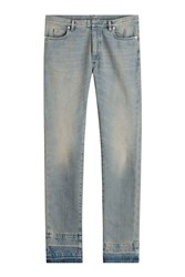 Maison Martin Margiela Maison Margiela Cotton Slim Jeans With Contrast Cuffs Blue