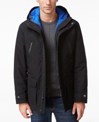 London Fog Men's 3 In 1 Hooded Coat Black Pacific Royal