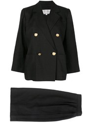 Yves Saint Laurent Vintage Two Piece Suit Black