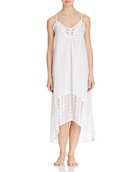 In Bloom By Jonquil Seagull Lace Trimmed Nightgown White