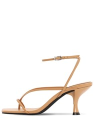 Jeffrey Campbell 70Mm Fluxx Leather Thong Sandals Nude