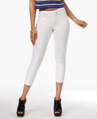 Hue Women's Original Denim Capri Leggings A Macy's Exclusive White