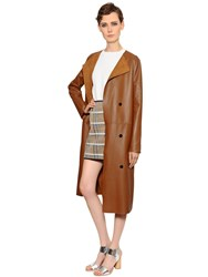 Yves Salomon Reversible Suede And Nappa Leather Coat