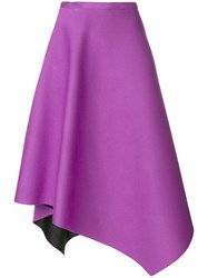 Chalayan Asymmetrical Midi Skirt Pink And Purple