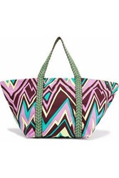 M Missoni Printed Canvas Tote Multicolor