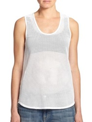 Twenty Mesh Muscle Beach Tank Top White