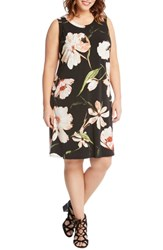Karen Kane Plus Size Floral Print Shift Dress
