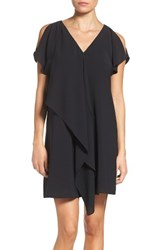 Adrianna Papell Women's Cold Shoulder Draped Shift Dress