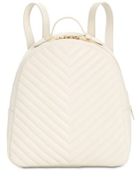 Steve Madden Josie Quilted Backpack White Gold